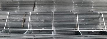 Marcos de acero para ventanas de ventilación.